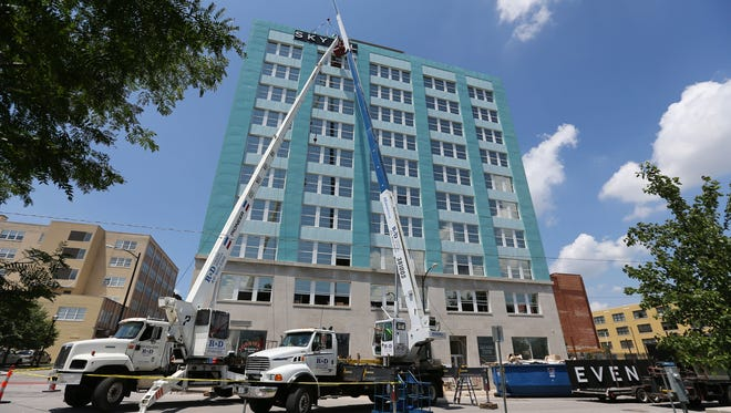 The Child Advocacy Center is asking individuals to summon the courage to rappel from the top of the Sky Eleven apartment building on June 4.