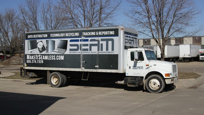 SEAM offers a secure truck to help recycle hard drives and other IT equipment on site for businesses.