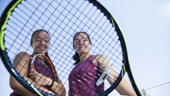 Mountain View twins Anya (left) and Madeline Lamoreaux are azcentral sports' Girls Tennis Players of the Year.