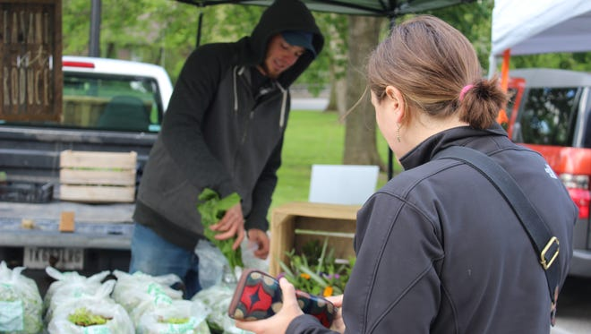 Pleasant St. Produce, a new urban farm located in Fountain Square, is among the Garfield Park vendors.