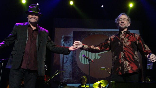 Micky Dolenz (left) and Peter Tork of The Monkees in a 2015 photo.