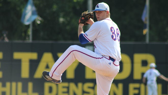 Louisiana Tech pitcher Casey Sutton threw a complete game in Thursday's 13-3 win over Charlotte.