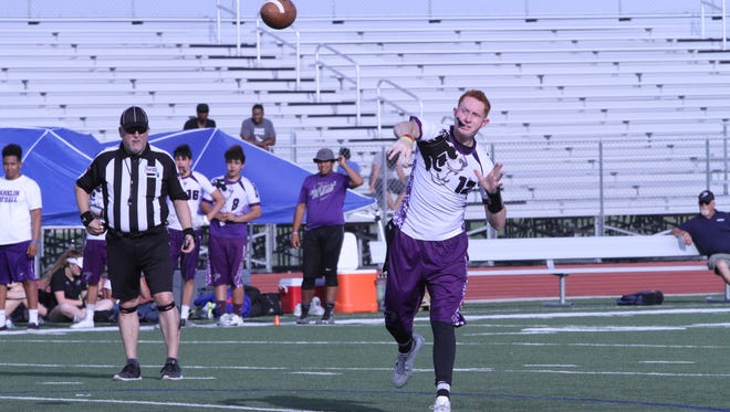 Franklin quarterback Kaleb Hatch at Friday's 7-on-7 tournament at Eastlake High School.
