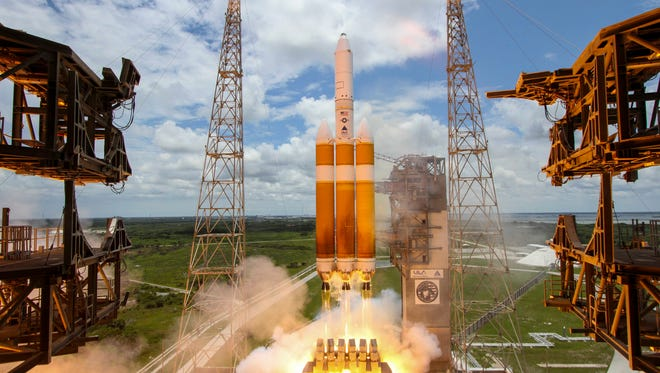 A United Launch Alliance Delta IV Heavy rocket carrying the National Reconnaissance Office's classified NROL-37 mission lifted off at 1:51 p.m. EDT from Cape Canaveral Air Force Station's Launch Complex 37.