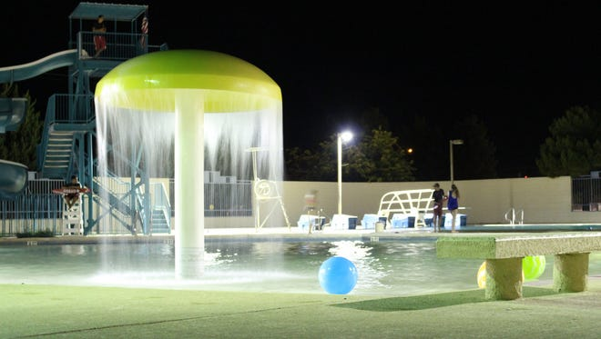 The Sam Baca Aquatic Center at the corner of Buckeye and Eighth streets, is a busy recreational facility during the summer months in Deming.