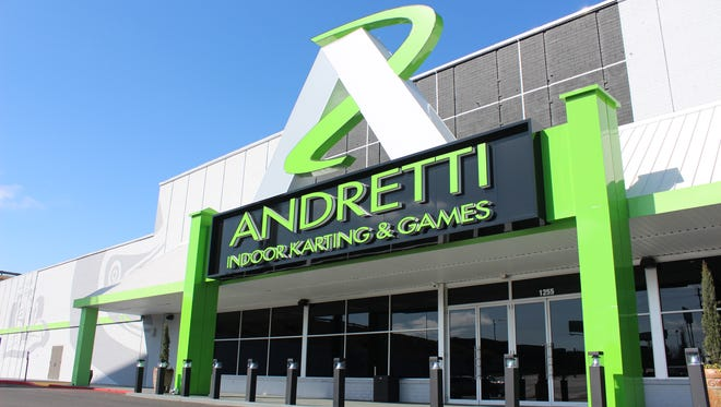 The front of a location of Andretti Indoor Kating & Games.