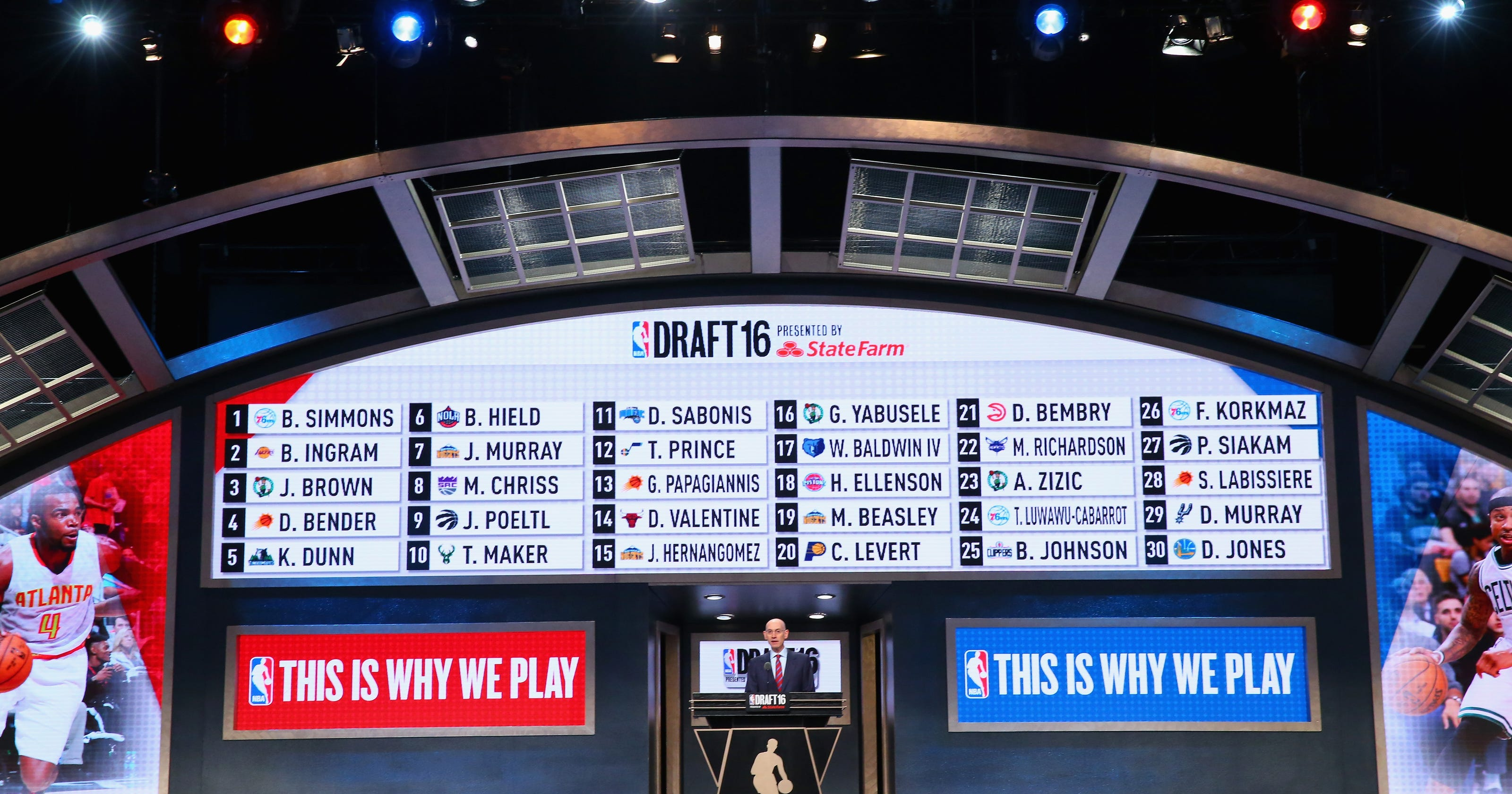 complete list of 2016 nba draft selections