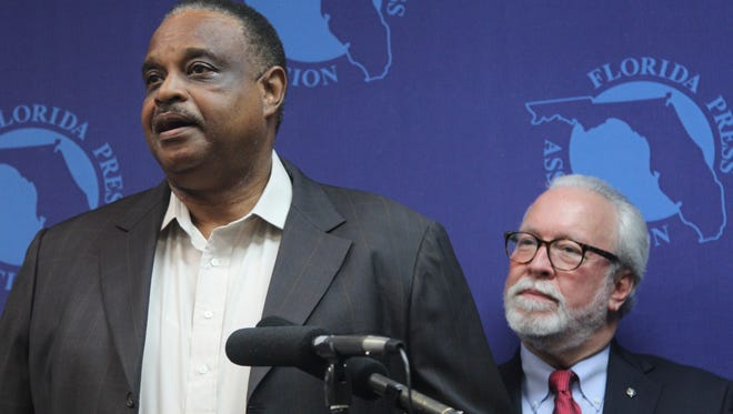 Al Lawson, left, was term-limited in the Florida Senate six years ago and is seeking the Democratic nomination for Congressional District 5