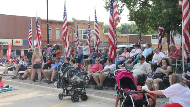 The crowd gathers along Court Street before the start of the Williamsburg Fourth of July parade in 2015. This year's celebration is Monday, July 4, with a parade, fireworks and children's activities throughout the day.