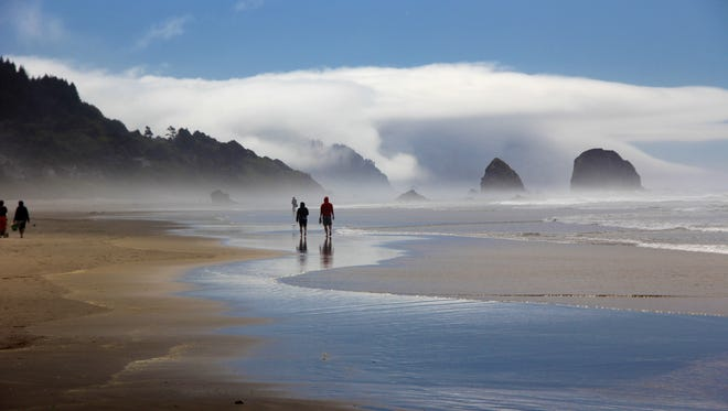 Cannon Beach and Haystack Rock.