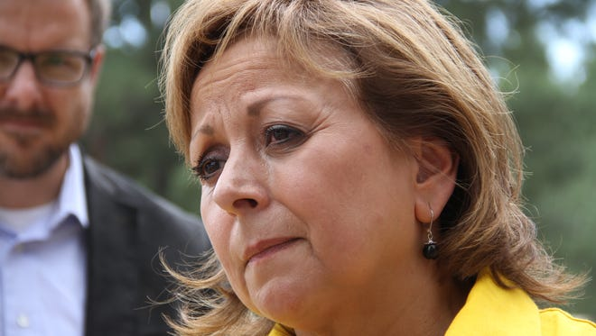 Gov. Susana Martinez speaks about the families who lost their homes to the wildfire in Timberon.