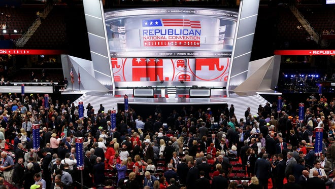 FILE - The final night of the Republican National Convention launched soaring oratory and song, and a theme of unity rather than constant Hillary Clinton bashing, as delegates awaited the culmination of a week of partisan revelry with Donald Trump's acceptance speech.