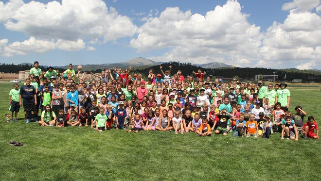J Bar J Church 2016 Sports Camp participants and volunteers.