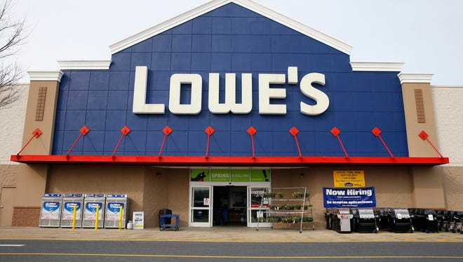 FILE - This March 25, 2014, file photo, shows a Lowe's store in Philadelphia. Lowe's reports financial earnings on Wednesday, May 18, 2016. (AP Photo/Matt Rourke, File)