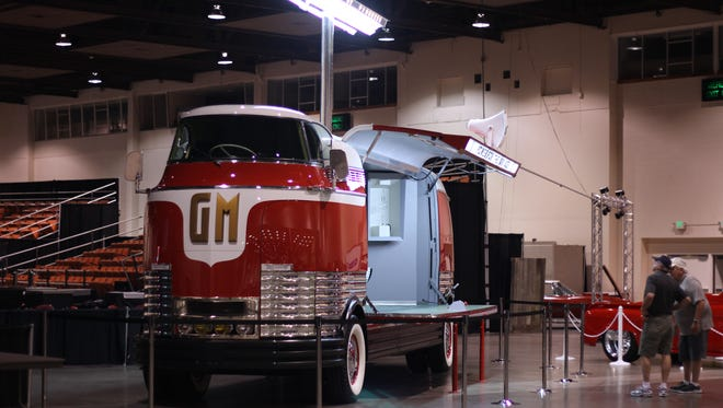 The GM Futurliner will be one of the many vehicles present at the Hot August Nights MAG Auction from Aug. 4 through Aug. 6 at the Reno Sparks Convention Center.