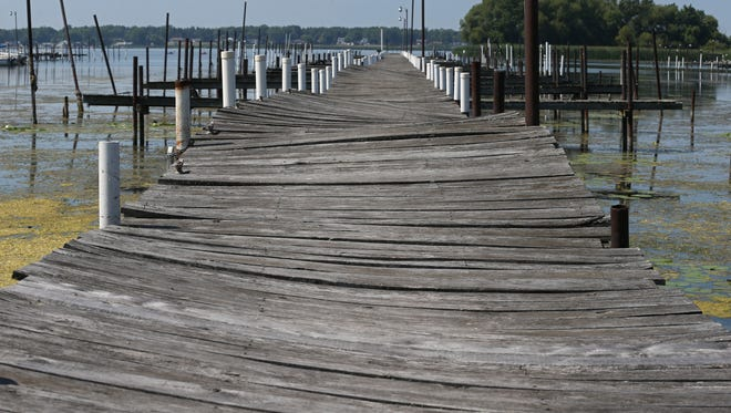 Dock B is in such bad condition, it is closed to everyone at Braddock Bay Marina in Greece.