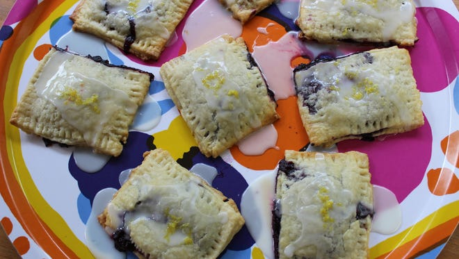 "Blueberry-lemon ""pop tarts"" made with local blueberries following a recipe from Wing and a Prayer Farm in Shaftsbury."