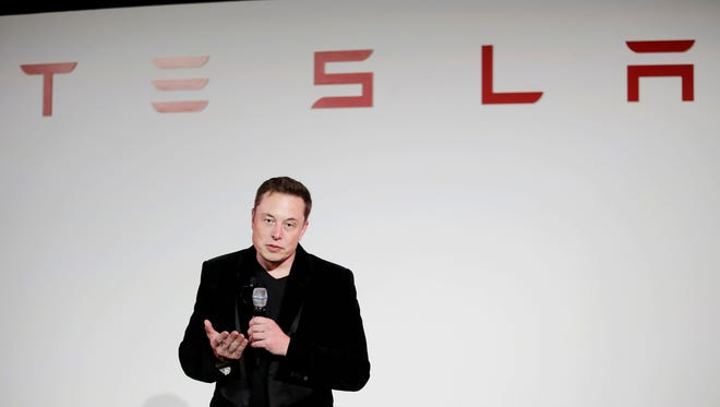 Elon Musk, CEO of Tesla Motors Inc., talks about the Model X car in 2015.