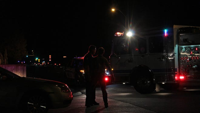 A motorcyclist was transported to the hospital after a crash with a car Tuesday.