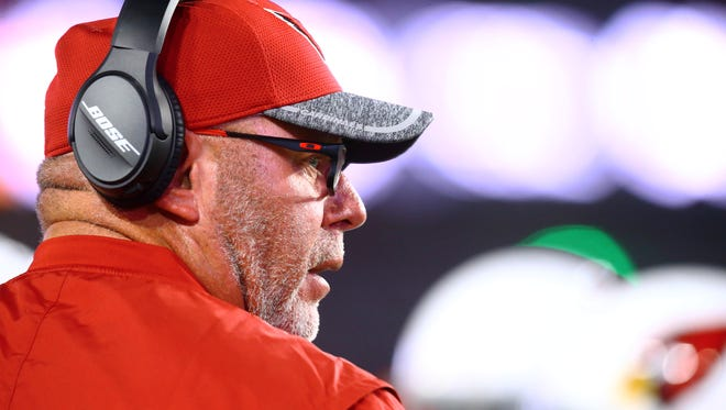 Cardinals coach Bruce Arians spent Tuesday night in a San Diego hospital.