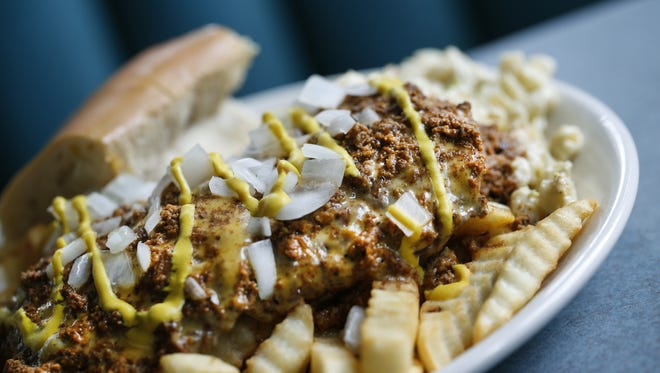 The Mark's Sloppy Plate Special at Mark's Texas Hots restaurant is one of many dishes in Rochester and beyond that is a takeoff on Nick Tahou's original Garbage Plate.