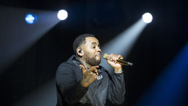Kevin Gates performs at Ak-Chin Pavilion in Phoenix on Wednesday, Aug. 24, 2016.