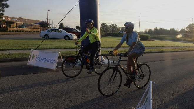 J.D. Germany, who is 80 years old, rode 30 miles in Saturday Morning's second annual Scenic Century Ride