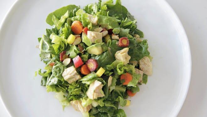 Chopped albacore tuna salad with Asian dressing in Coronado, Calif.