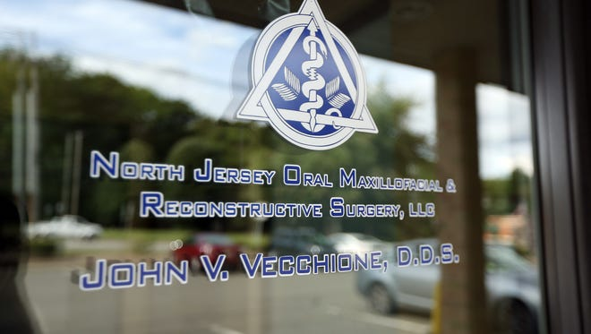 The dental office of Dr. John Vecchione, who has agreed to a temporary suspension of his dentistry license after 15 cases of heart infections, including one that resulted in death, were linked to his practice. September 2, 2016, Budd Lake, NJ