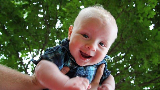 Emmett Cwach is six months old.