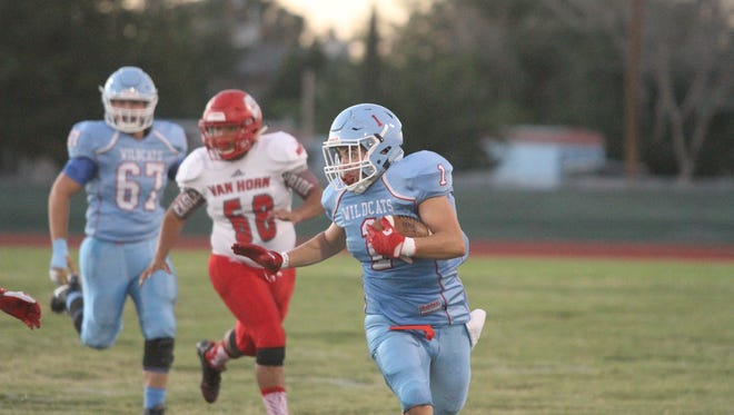 Anthony running back Brandon Espinoza picks up big yards versus Van Horn Friday night.