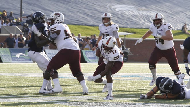 ULM jumped to an early 14-point lead over Georgia Southern before losing 23-21 on Saturday.
