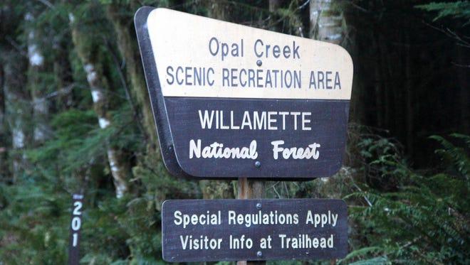 Entering the Opal Creek Scenic Recreation Area.