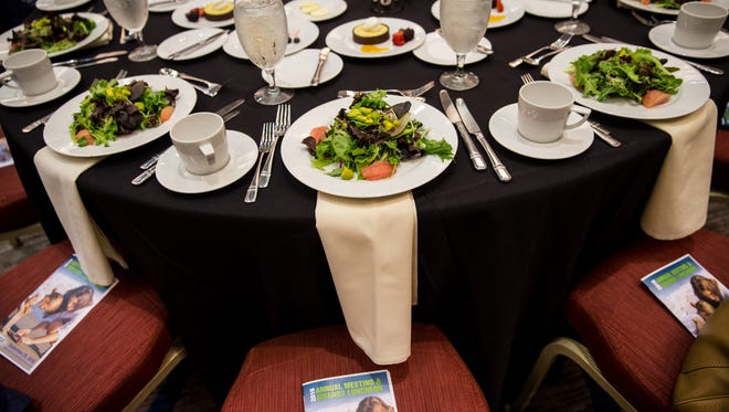 In this 2016 photo, tables are set before the start of the 2016 Bonita Springs Chamber Annual Meeting & Awards Luncheon at the Hyatt Regency Coconut Point Resort and Spa in Bonita Springs, Florida on Thursday, Sept. 29, 2016.