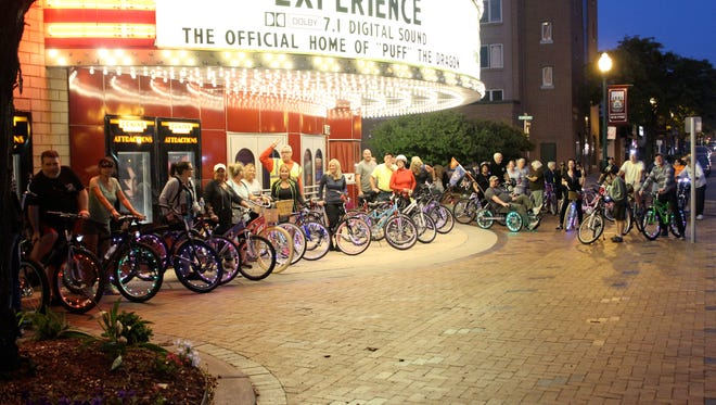 The Wayne Bicycle Club gathering before members head out on a weekly ride around town.