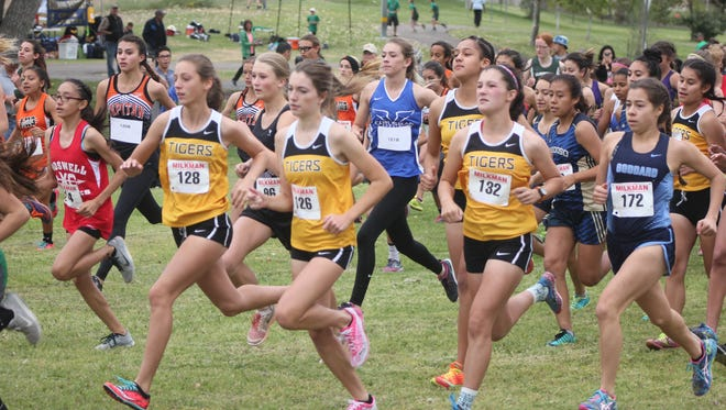 The Alamogordo Lady Tigers cross country team won the Pecos Valley Invite on Saturday morning.