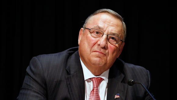 Maine Gov. Paul LePage attends an opioid abuse conference