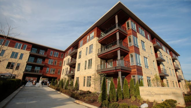 The 2770 Observatory development at the corner of Observatory and Shaw avenues was completed this year in Hyde Park.