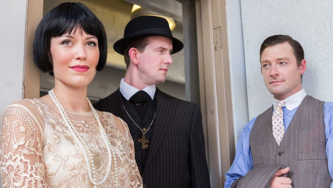 """Southwest Shakespeare's """"The Merchant of Venice"""" features (from left) Alison Campbell, Clay Sanderson and Kyle Sorrell."""