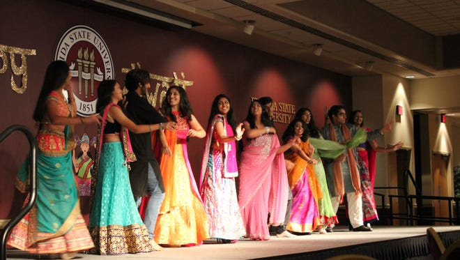 The Diwali festival at FSU featured a fashion show at their event.