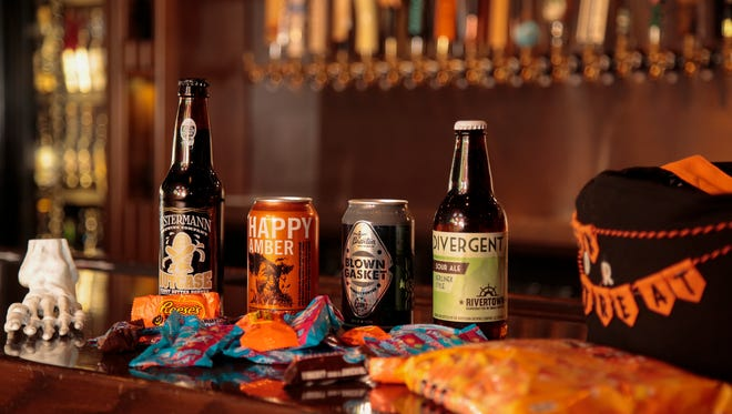 The Brass Tap is suggesting beer and candy pairings for Halloween.