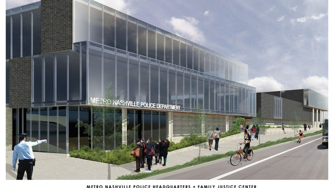 A rendering shows Metro Nashville Police Department's new headquarters.
