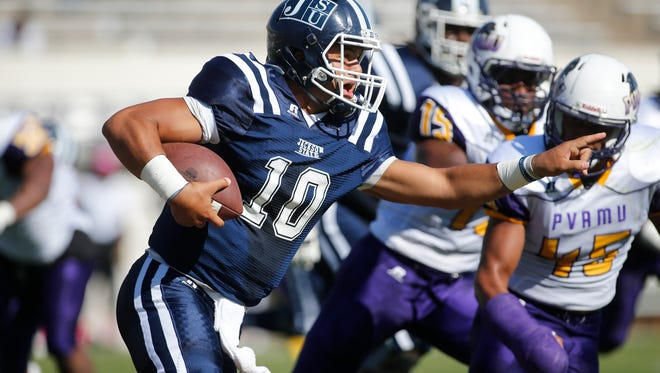 Jackson State quarterback Juwan Adams gives the Tiger offense an added dimension with his ability to run the football.