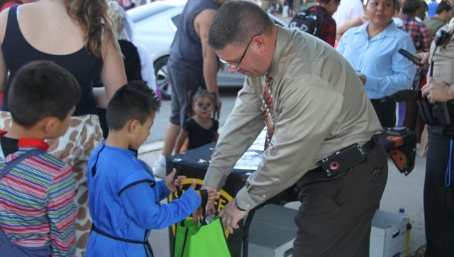 Organizations including the Eddy County Sheriff's Office passed out candy for the annual Downtown Fall Festival.