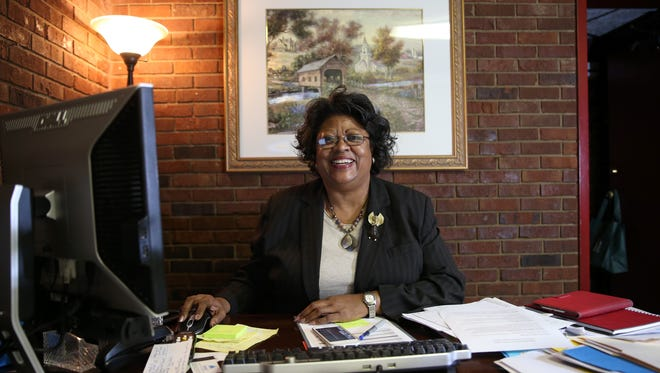 Lucretia Collins, the director of Ready 4 Work Tallahassee holds sits in her office, which opened its doors on Monday, Nov. 7, 2016. The program, sponsored by Bethel Empowerment Foundation, works with recently released Department of Corrections facility non-violent, ex-offenders on life skills and job placement.