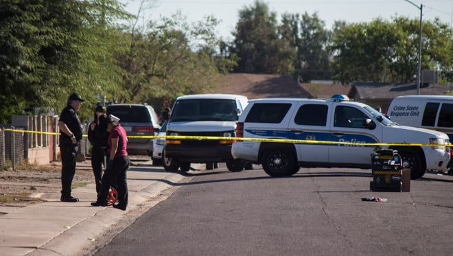 A man remains in critical condition following an early-morning shooting Nov. 12, 2016,  in Phoenix.
