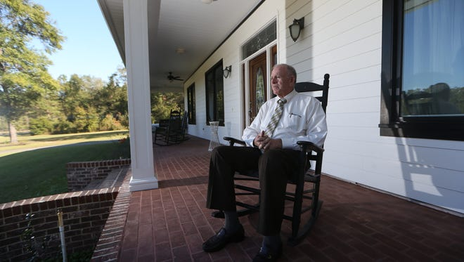 Willie Meggs, who will retire this year after a 32-year-career as Florida State Attorney in Tallahassee, sits on the front porch of his home on Thursday, Nov. 10, 2016.