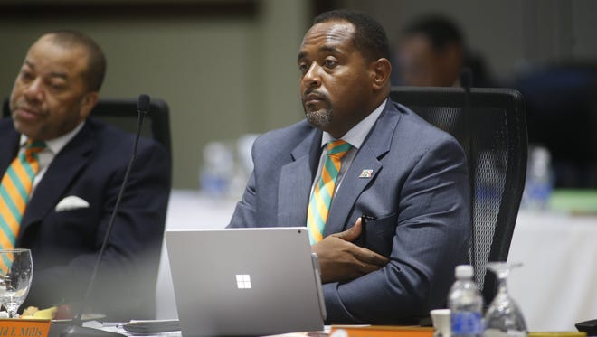 FAMU trustees Harold Mills, right, and Thomas Dortch Jr. , left, are both helping with recruiting students to FAMU.