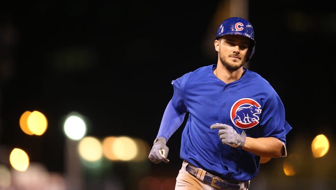 Kris Bryant led the NL in WAR (7.7), ripped 39 home runs and drove in 102.
