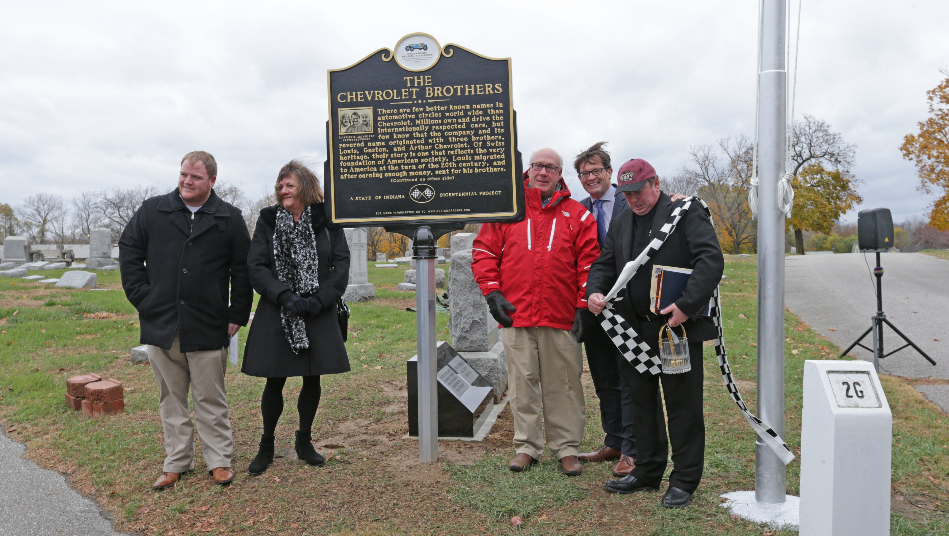 New grave and historical marks unveiled for famed Chevrolet Brothers
